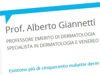 ALBERTO GIANNETTI, PROFESSORE EMERITO DI DERMATOLOGIA